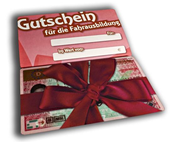 Fahrschule-Bergmann: Geschenk-Gutschein